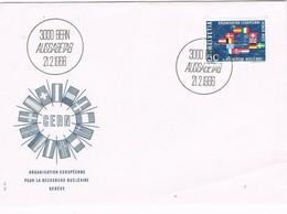 32014. Carta F.D.C. BERN (Suisse) 1966. CERN, Organisation Europeen Recherche NUCLEAR - FDC