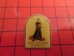 0317 Pins Pin's / Rare & Belle Qualité THEME PERSONNES CELEBRES / ST LOUIS MARIE DE MONTFORT A JESUS PAR MARIE - Personnes Célèbres