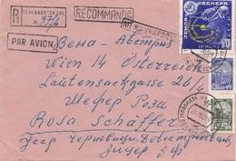 RUSSLAND RECO-Brief 1953 - 3 Fach Frankatur Auf Brief (ohne Inhalt), Gel.v. Russland > Wien, Transportspuren - 1923-1991 UdSSR