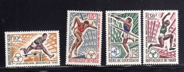 NIGER 1965 AFRICAN GAMES JEUX AFRICAINE GIOCHI AFRICANI BRAZZAVILLE COMPLETE SET SERIE COMPLETA MNH - Niger (1960-...)