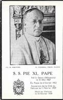 S.S PIE XI PAPE MORT AU VATICAN LE 10 FEVRIER 1939 - Godsdienst & Esoterisme