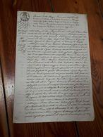 1860 FERRARA REGIE PROVINCIE EMILIA ATTO MANOSCRITTO SU CARTA BOLLATA - Manoscritti