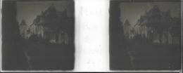 Plaque De Verre Stéréoscopique Positive - Année 1945 - Moret Sur Loing - Porte De Samois - Rue Grande - Plaques De Verre