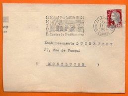 BRIVE CENTRE DE PREHISTOIRE    1964 Lettre Coupée N° MM 575 - Postmark Collection (Covers)