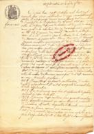 VP151 - FAVEROIS - Procès Verbal Adjudication De La Fête ( Patronale ? ) - 1866 -  ( Territoire De Belfort ) - Vieux Papiers