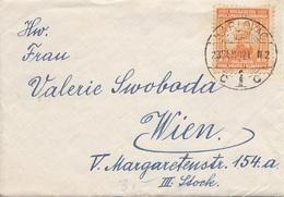 SERBIEN,BOSNIEN,SLOWENIEN 1921 - 1 D Auf Brief Mit Inhalt Gel.v. Karlovac > Wien - 1919-1929 Königreich Der Serben, Kroaten & Slowenen