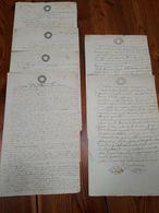 1853 LOMBARDO VENETO ROVIGO 6 DOCUMENTI CARTA BOLLATA ATTI NOTARILI - Manoscritti