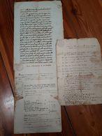 1823/58 SARDEGNA 3 MANOSCRITTI CARTA BOLLATA - CAPRILE VERCELLI CREVACUORE - Manoscritti