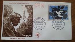 Premier Jour  FDC.. . GEORGES  BRAQUE .. 1961 ..LE  MESSAGER .. Peintre - Other