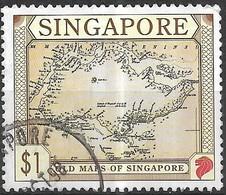SINGAPORE 1996 Old Maps - $1 - Singapore By James Duncan, 1835 FU - Singapour (1959-...)