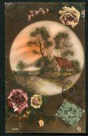 11965 CPA  Paysage Dans Un Médaillon Et Roses   1920 - Autres