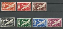 NLLE CALÉDONIE Scott C7-C13 Yvert PA46-PA52 (7) * Cote 6,50 $ 1942 - Neufs