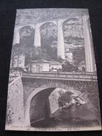 Ancienne Carte Postale Cpa Gorges Du Loup Le Viaduc Et Le Loup Parfumerie Garage - Gourdon