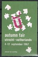 Vignette, Viñeta, Label  UTRECHT (Nederland)  1967. Autumn Fair * - Variedades Y Curiosidades