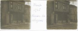 Plaque De Verre Stéréoscopique Positive - Année 1945 - Moret Sur Loing - Maison Des Religieuses - Plaques De Verre