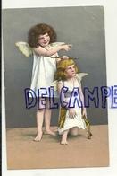 Photographie. Deux Petits Anges. Carquois, Flèche. 1907 - Anges