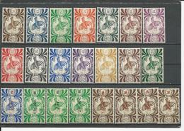 NLLE CALÉDONIE Scott 252-265, 266-273 Yvert 230-243, 249-256 (22) * Cote 20,00 $ 1942-6 - Neufs