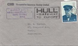 ENGLAND 1947? - 4,5 P Auf Firmenbrief (CIS) Mit Sonderstempel, Gel., - 1902-1951 (Könige)