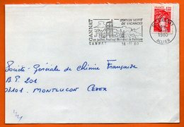 03 GANNAT  FOLKLORE  1980   Lettre Coupée N° MM 588 - Postmark Collection (Covers)