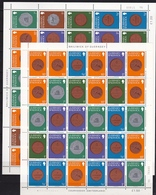 GUERNSEY 1980-1981 Coins 2 Complete MNH Sheets As Shown On Scans - Guernsey