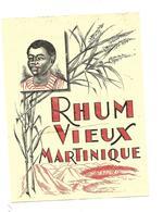 ETIQUETTE RHUM VIEUX MARTINIQUE ETAT - Rhum