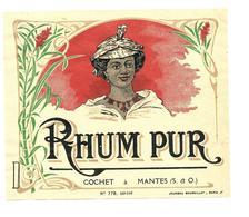 ETIQUETTE RHUM COCHET A MANTES SEINE ET OISE - Rhum