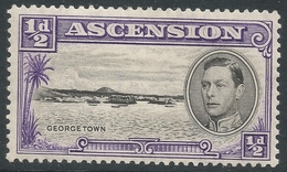Ascension. 1938-53 KGVI. ½d MH P13½. SG 38 - Ascension