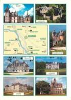 18 - Cher - Les Chateaux Du Cher - Multivues - Carte Géographique - Flamme Postale De Saint Amand Montrond - Voir Scans - Other Municipalities