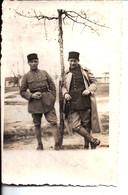 """Photo """"Sergent""""? Clément Et """"Sergent""""? Blanchart Décédé En 1940 à Marseille Des Suites De Ses Blessures De Guerre. 1934. - Guerra, Militares"""
