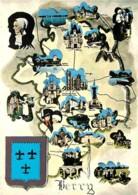 18 - Cher - Berry - Multivues - Carte Géographique - Blasons - Carte Neuve - Voir Scans Recto-Verso - Other Municipalities