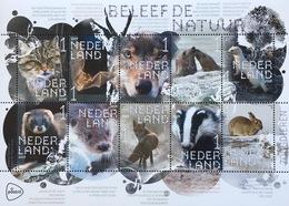Niederlande 2019 Neuheit Säugetiere Fauna Tiere Dachs Fuchs Otter Hermelin - Ungebraucht