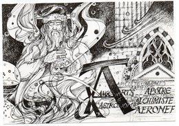 CPM   CARTES POSTALES ET COLLECTION  ILLUSTR. CHRISTIAN GREGORI    LA LETTRE A DU DICTIONNAIRE VIEILLE FRANCE - Bourses & Salons De Collections