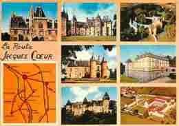 18 - Cher - Route De Jacques Coeur - Multivues - Chateaux - Voir Scans Recto-Verso - France