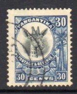 Tanganyika GV 1922-4 'Giraffe' Definitive 30c Blue Value, Used, SG 79 (BA) - Tanganyika (...-1932)