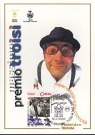 ITALIA REP. - 2000 - POSTE ITALIANE DIVISIONE FILATELIA CARTOLINA PREMIO MASSIMO TROISI.ANNULLO S.GIORGIO A CREMANO. - 6. 1946-.. Repubblica
