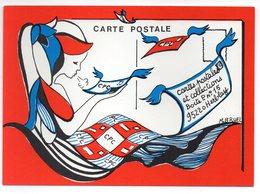 CPM   CARTES POSTALES ET COLLECTION  ILLUSTR. MONIQUE BRUEL - Bourses & Salons De Collections