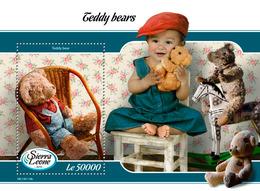 SIERRA LEONE 2019 - Teddy Bears S/S. Official Issue. - Puppen
