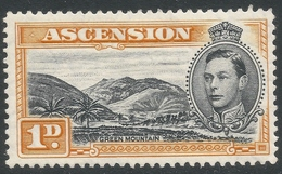 Ascension. 1938-53 KGVI. 1d MH P13. SG 39b - Ascension