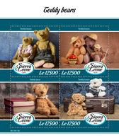 SIERRA LEONE 2019 - Teddy Bears. Official Issue. - Puppen