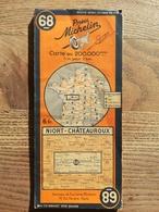 CARTE ROUTIERE MICHELIN N° 68 . EDITION PROVISOIRE DE 1941 . NIORT - CHATEAUROUX . BON ETAT . - Cartes Routières