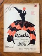 SPARTITO MUSICALE VINTAGE MANOLA Di Mendes-Liberati  COPERTINA DI RAMO ED. E.BERNSTIEL  MILANO - Musica Popolare