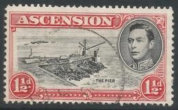 Ascension. 1938-53 KGVI. 1½d Used P13½. SG 40 - Ascension (Ile De L')