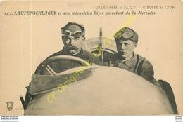 LAUTENSCHLAGER Et Son Mécanicien RIGER Au Volant De La MERCEDES .  Grand Prix De L'A?C?F? CIRCUIT DE LYON . - Lyon