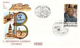 Fdc Roma: SAN BENEDETTO 1980 No Viaggiata - FDC