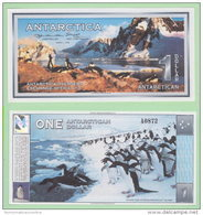 Antartide Antartic Camp Antarctica Coupon 1 Dollar 1996 - Billets