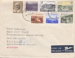 TÜRKEI 1964 - 7 Fach Frankierung Auf Brief Gel.v. Istanbul > Wien, Wasserrettung - 1921-... Republik