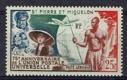 Saint Pierre And Miquelon, Universal Postal Union, 75th Anniv., 1949, MH VF - Airmail