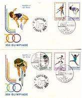 2 Fdc Roma: XXII OLIMPIADE 1980 No Viaggiate - FDC