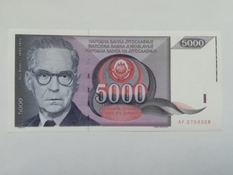 JUGOSLAVIA 5000 DINARI 1991 - Yugoslavia