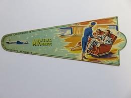 249 - Marque Page Ancien - Aviation - Air Atlas Maroc - Cie De Transport Aérien Chérifienne - Gaillard Maroc - Marque-Pages